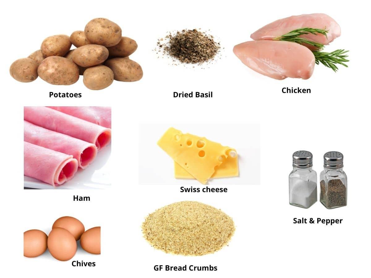 gluten free chicken cordon bleu ingredients