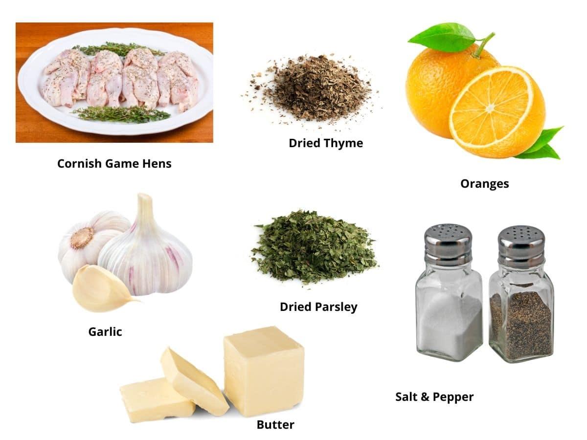 cornish game hen ingredients