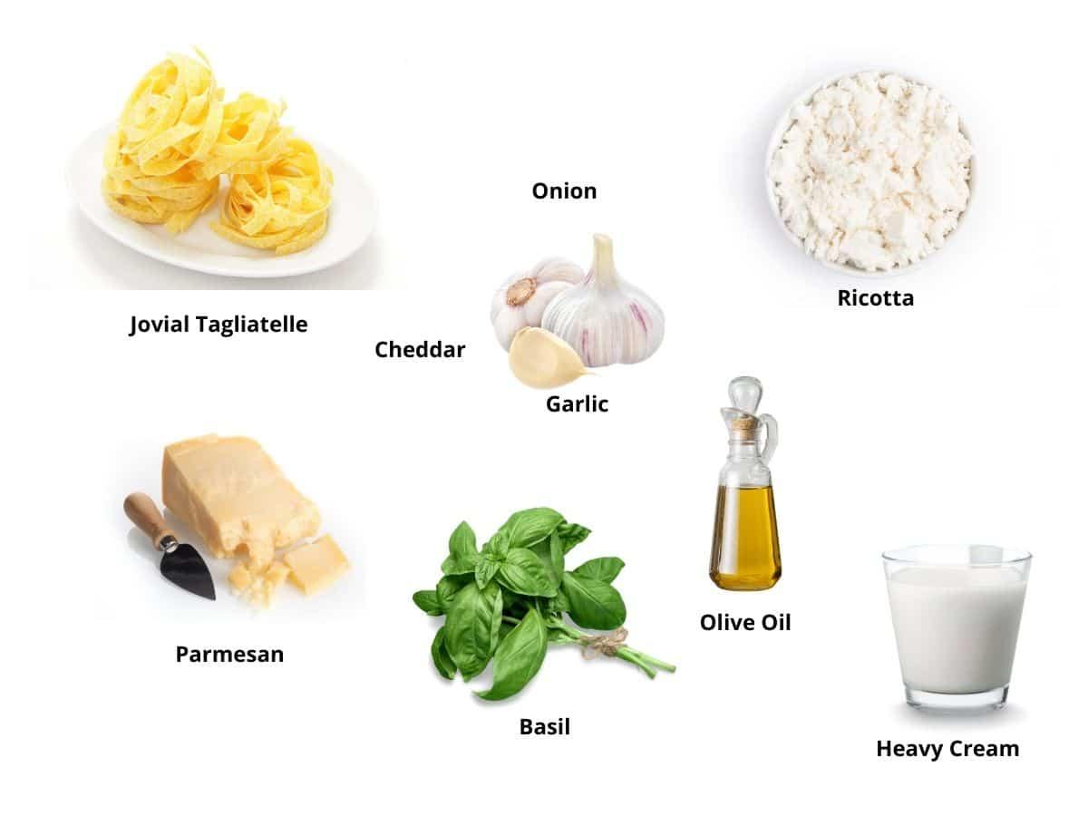 fettuccine alfredo ingredients