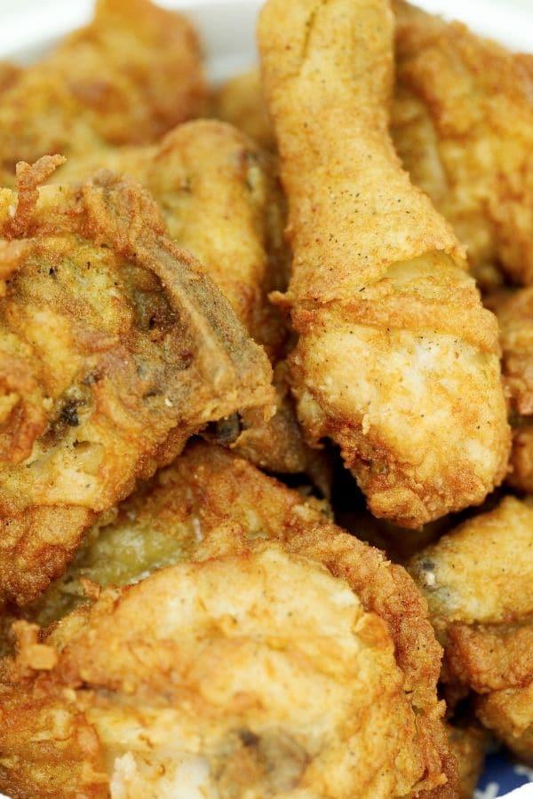 pieces of gluten free fried chicken