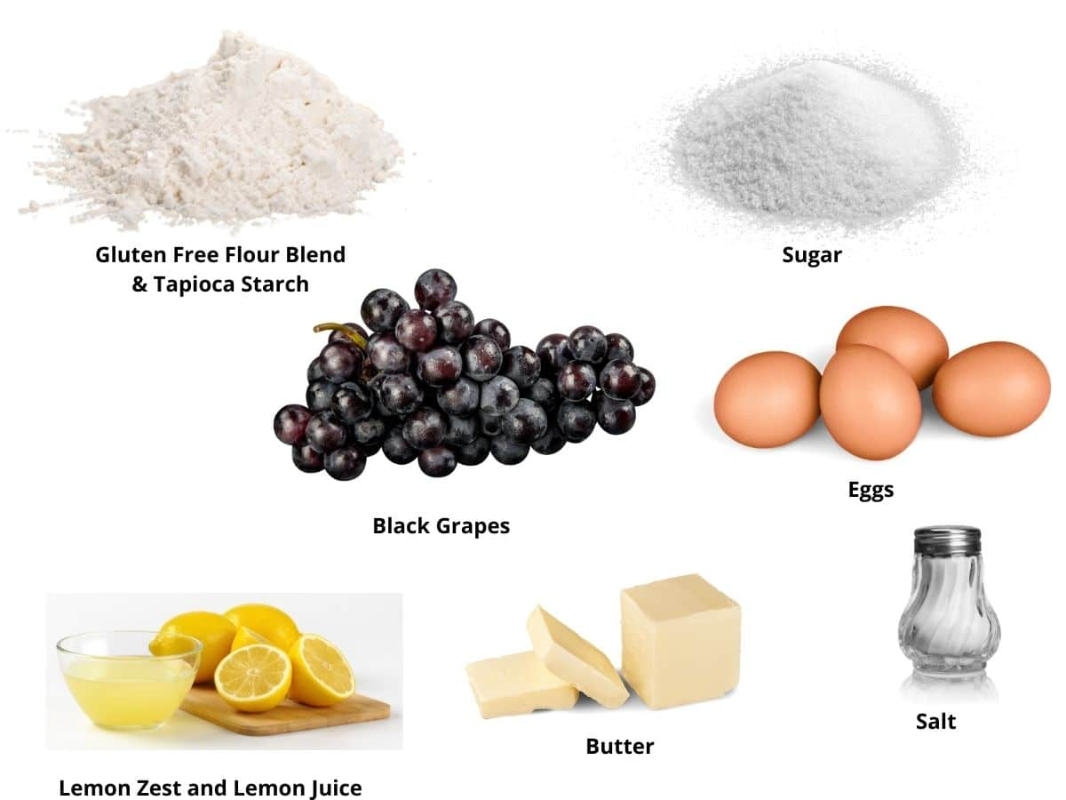 grape galette ingredients