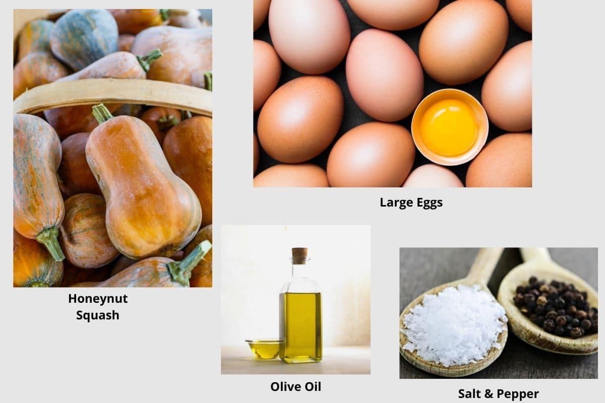pictures of the honeynut breakfast ingredients