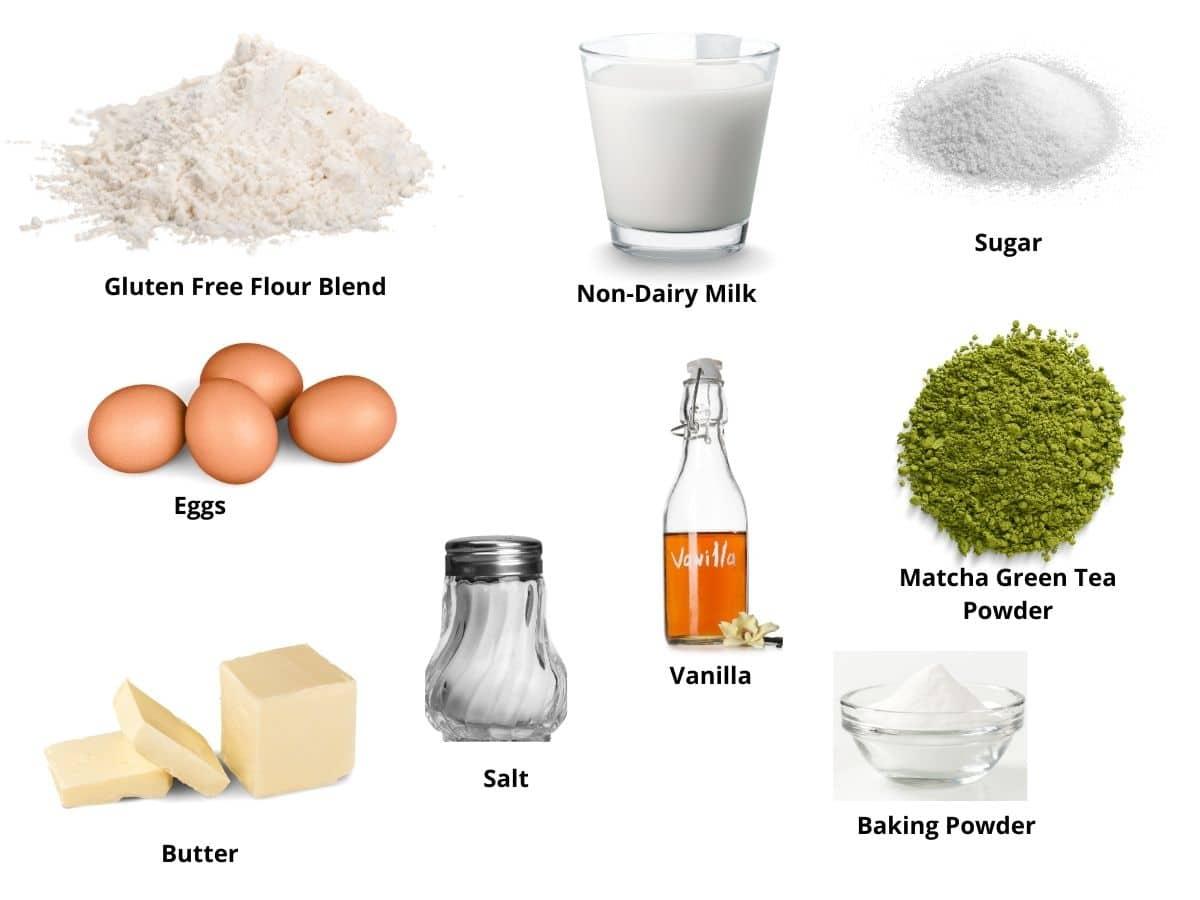 matcha bundt cake ingredients