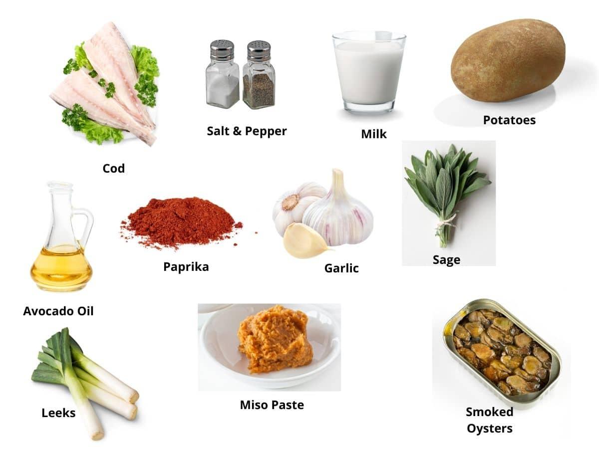 oyster chowder ingredients