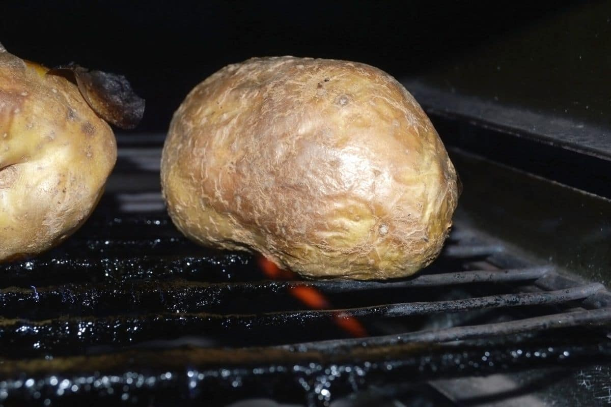 baked potatoes in the oven