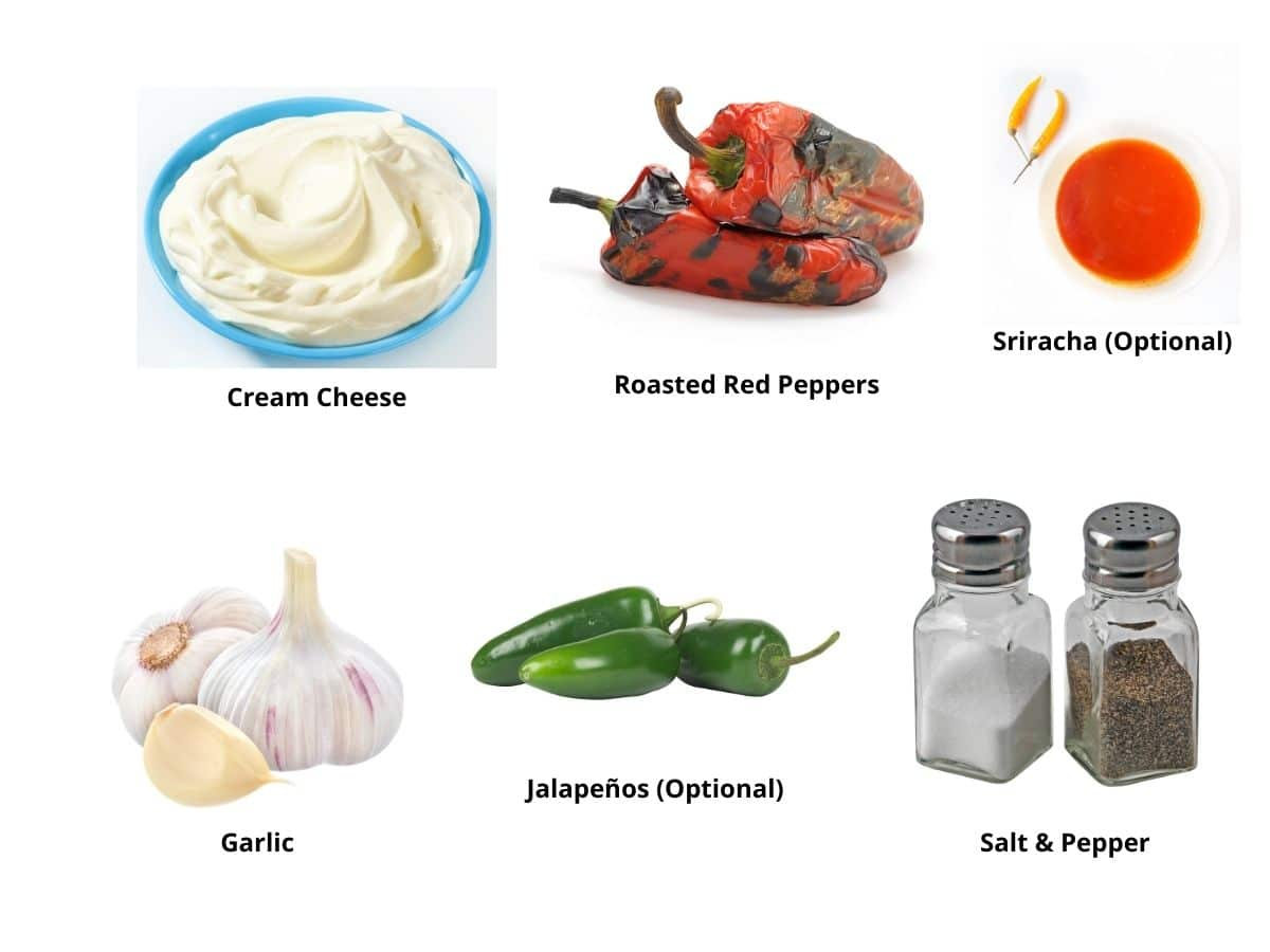 red pepper cream cheese ingredients