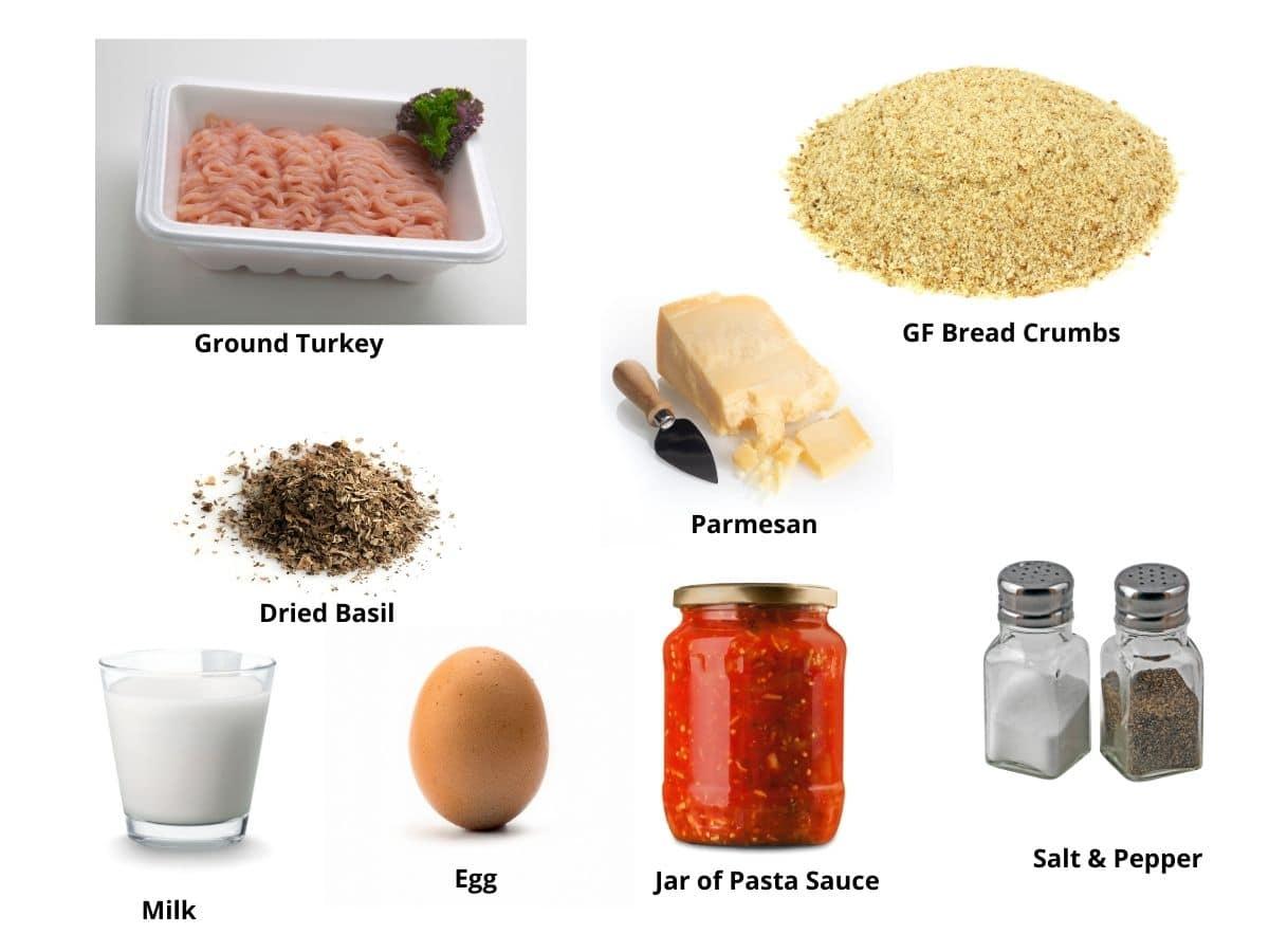 turkey meatballs ingredients