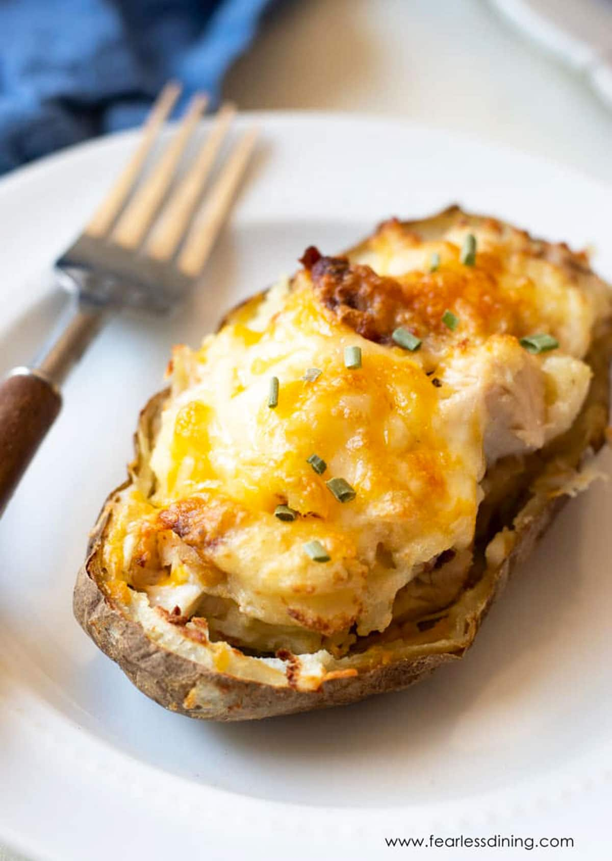 Loaded Air Fryer Twice Baked Potatoes Fearless Dining