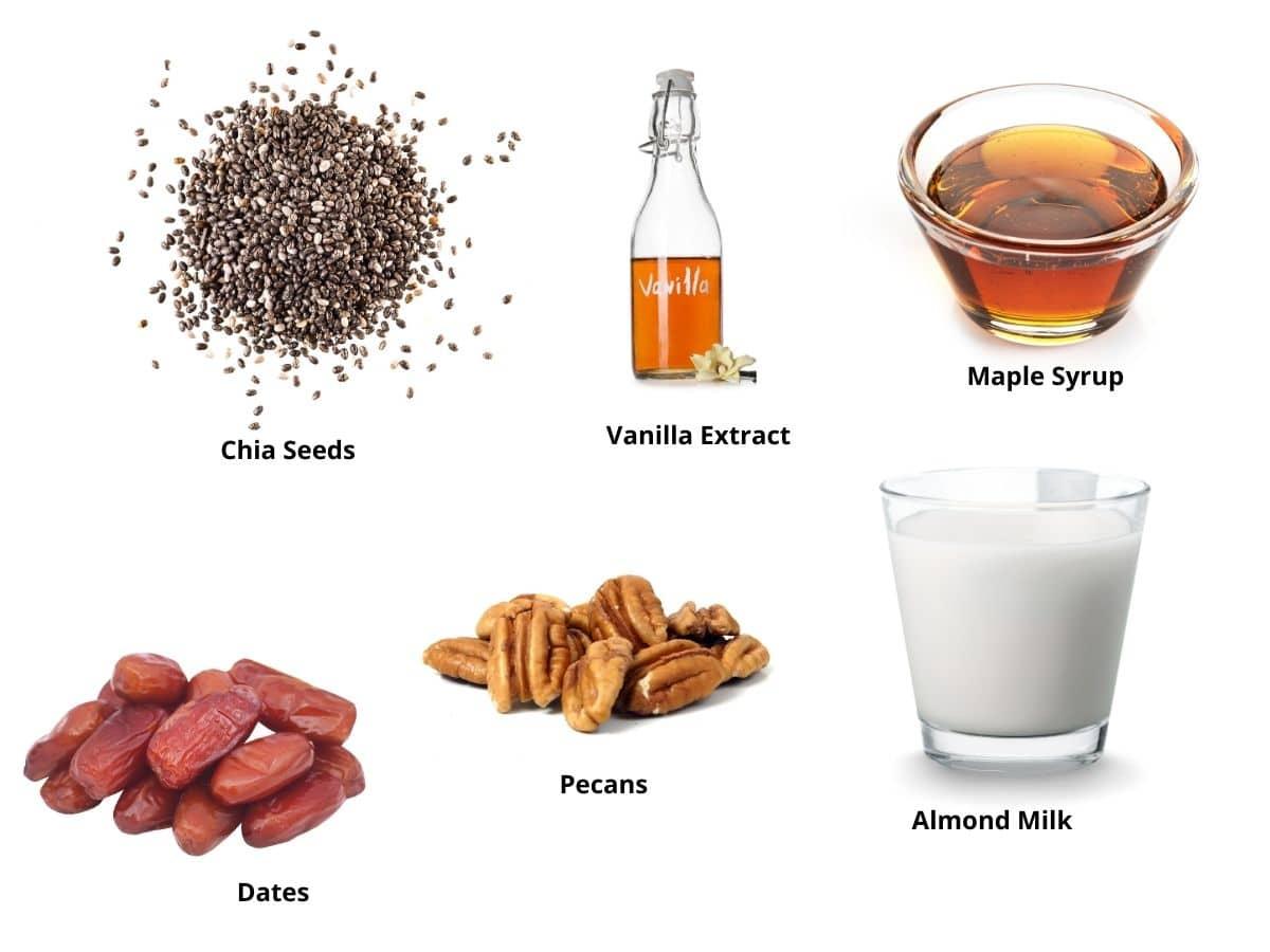 vanilla chia pudding ingredients