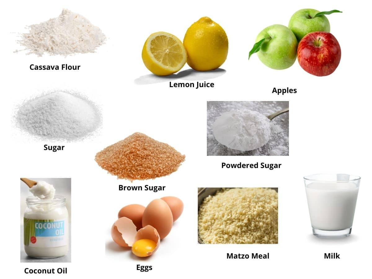 Passover apple cake ingredients