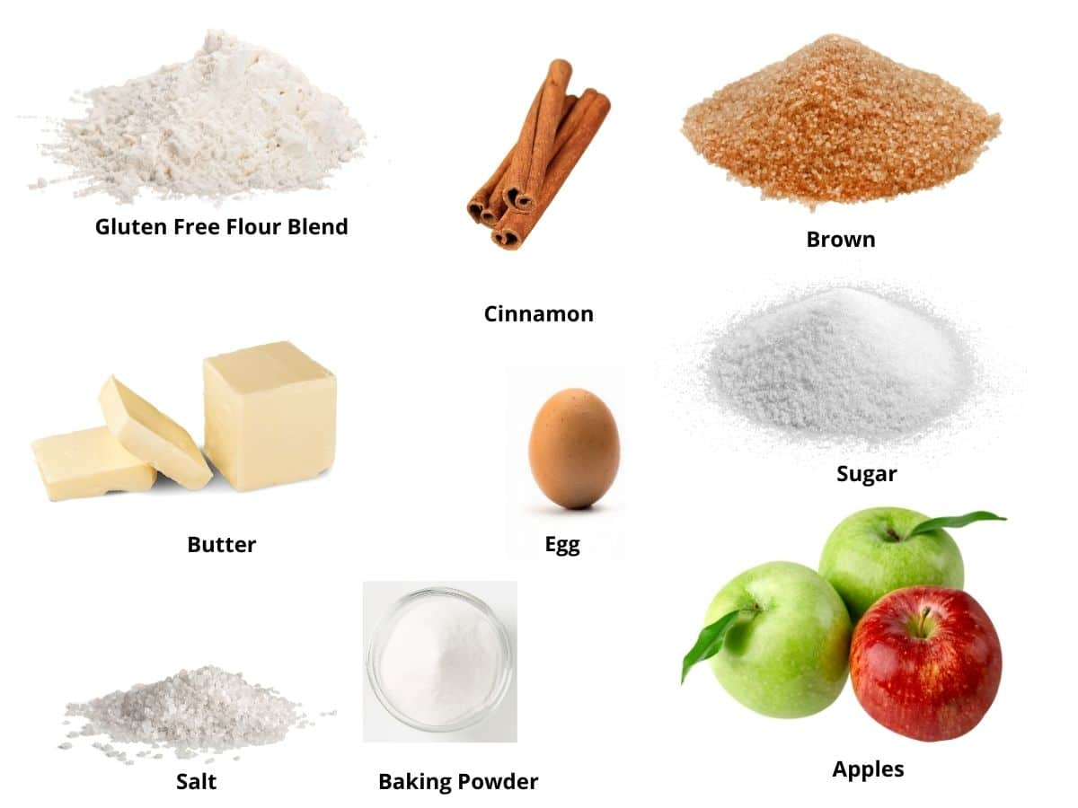 apple crumble bars ingredients