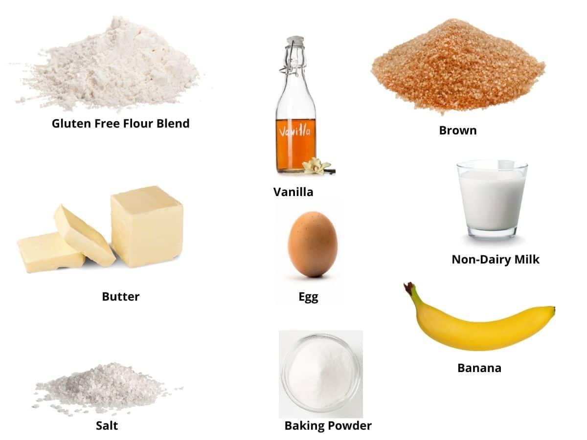 banana mug cake ingredients