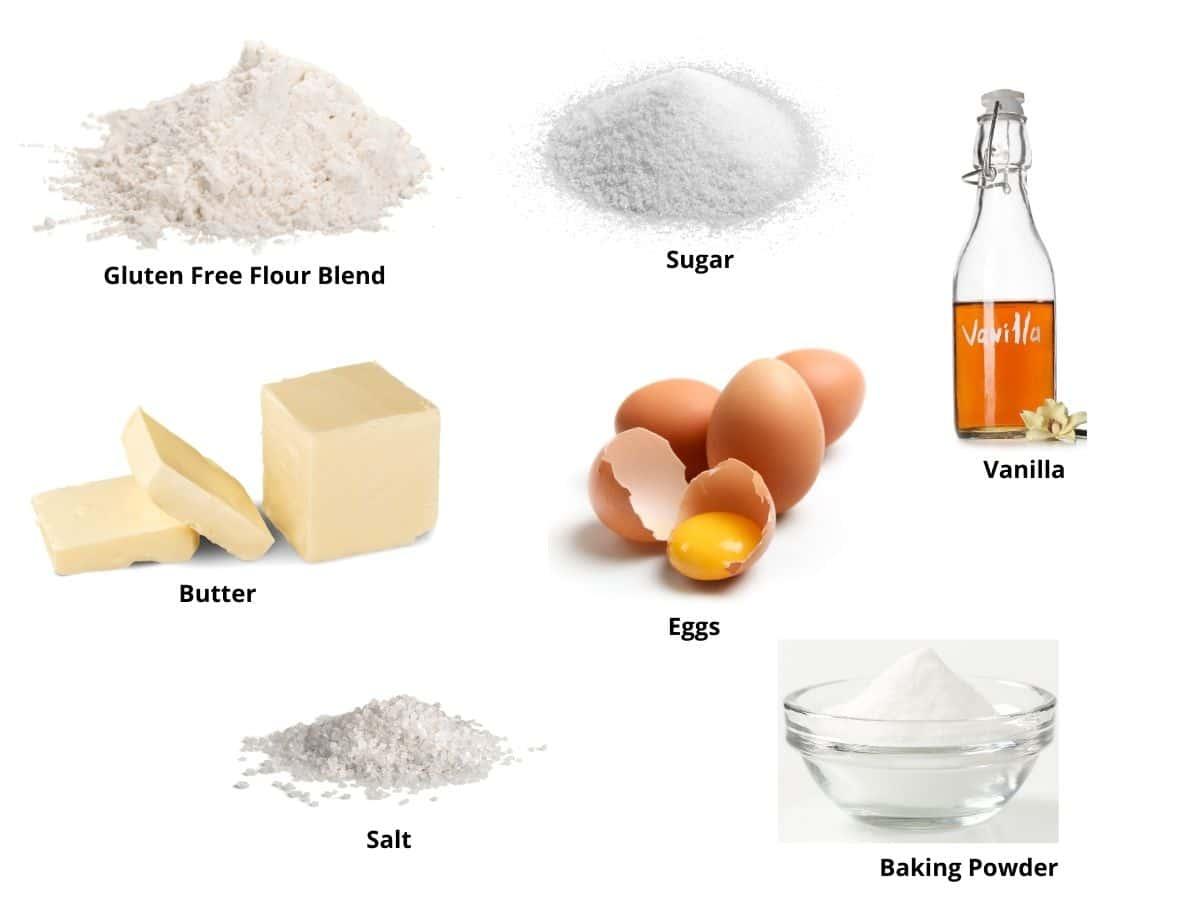 gluten free butter cookies ingredients