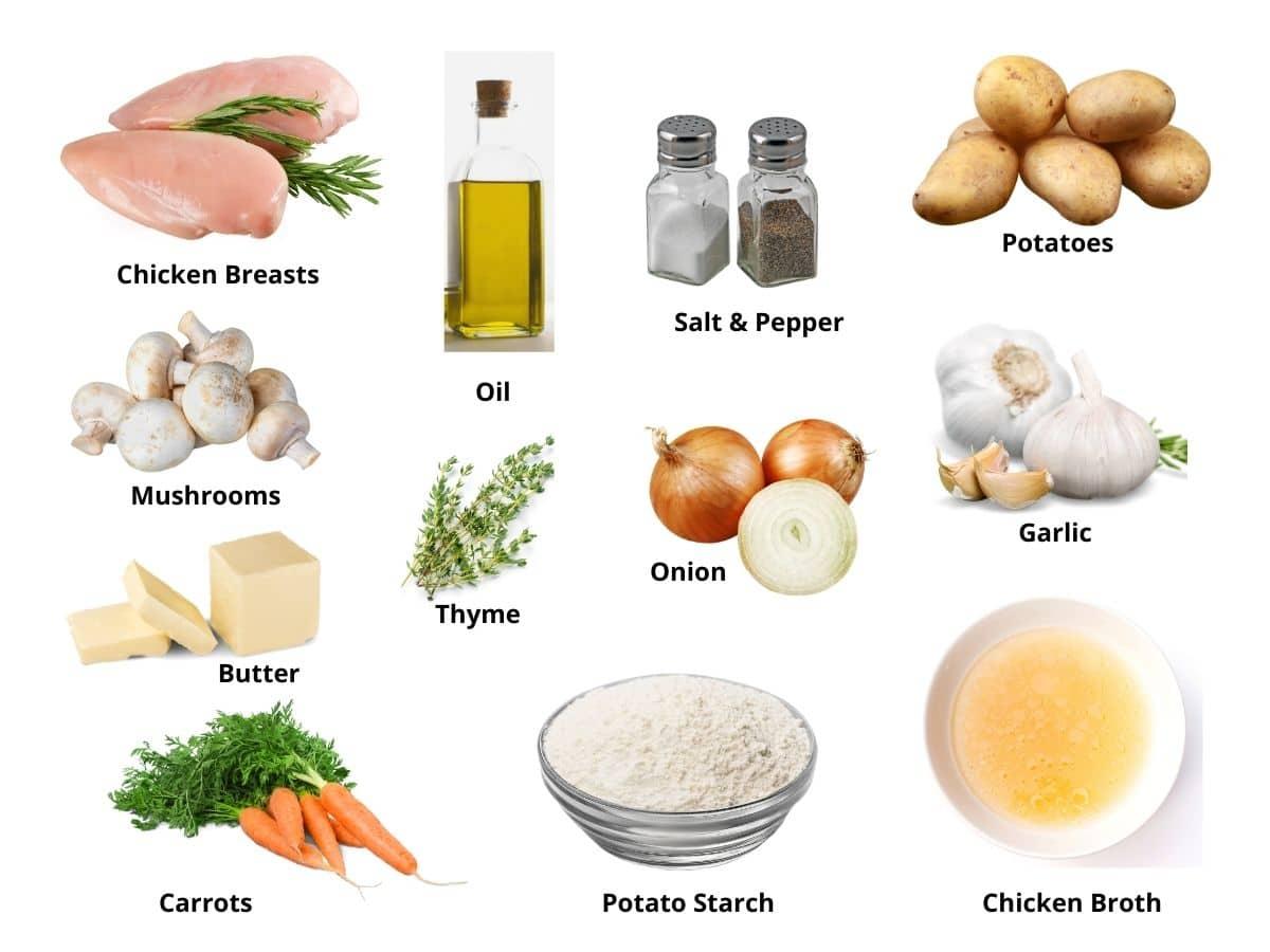 gluten free chicken stew ingredients