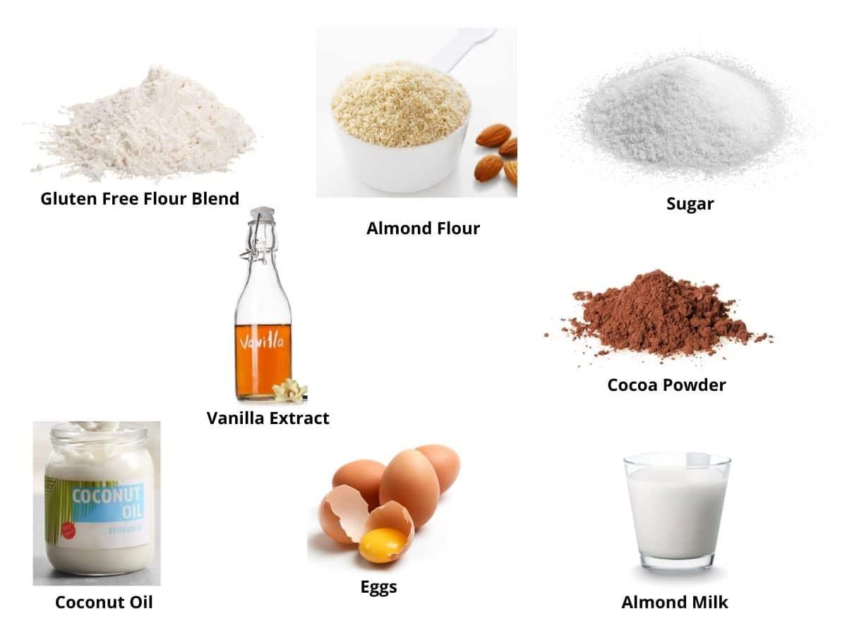 gf chocolate mug cake ingredients