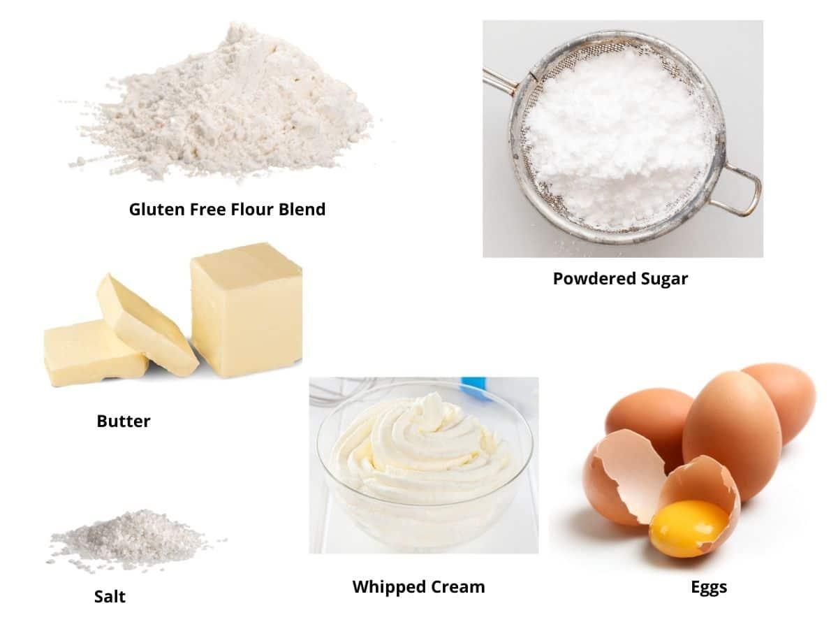 gluten free cream puffs ingredients