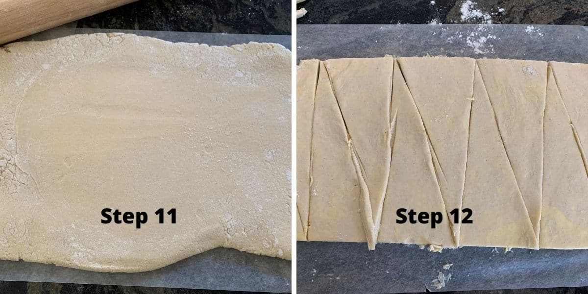 crescent rolls photos of steps 11 and 12
