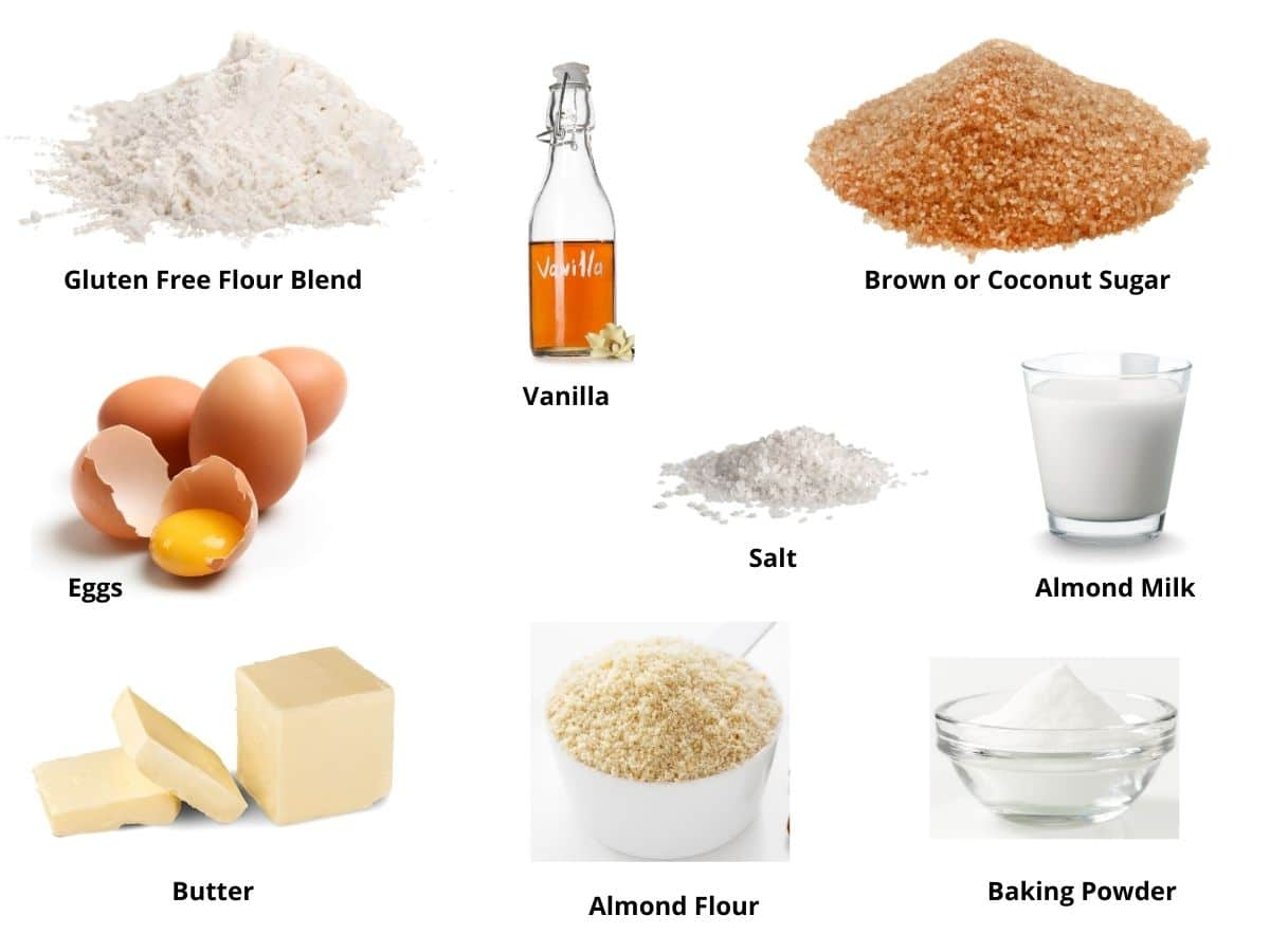 gluten free crumb cake ingredients