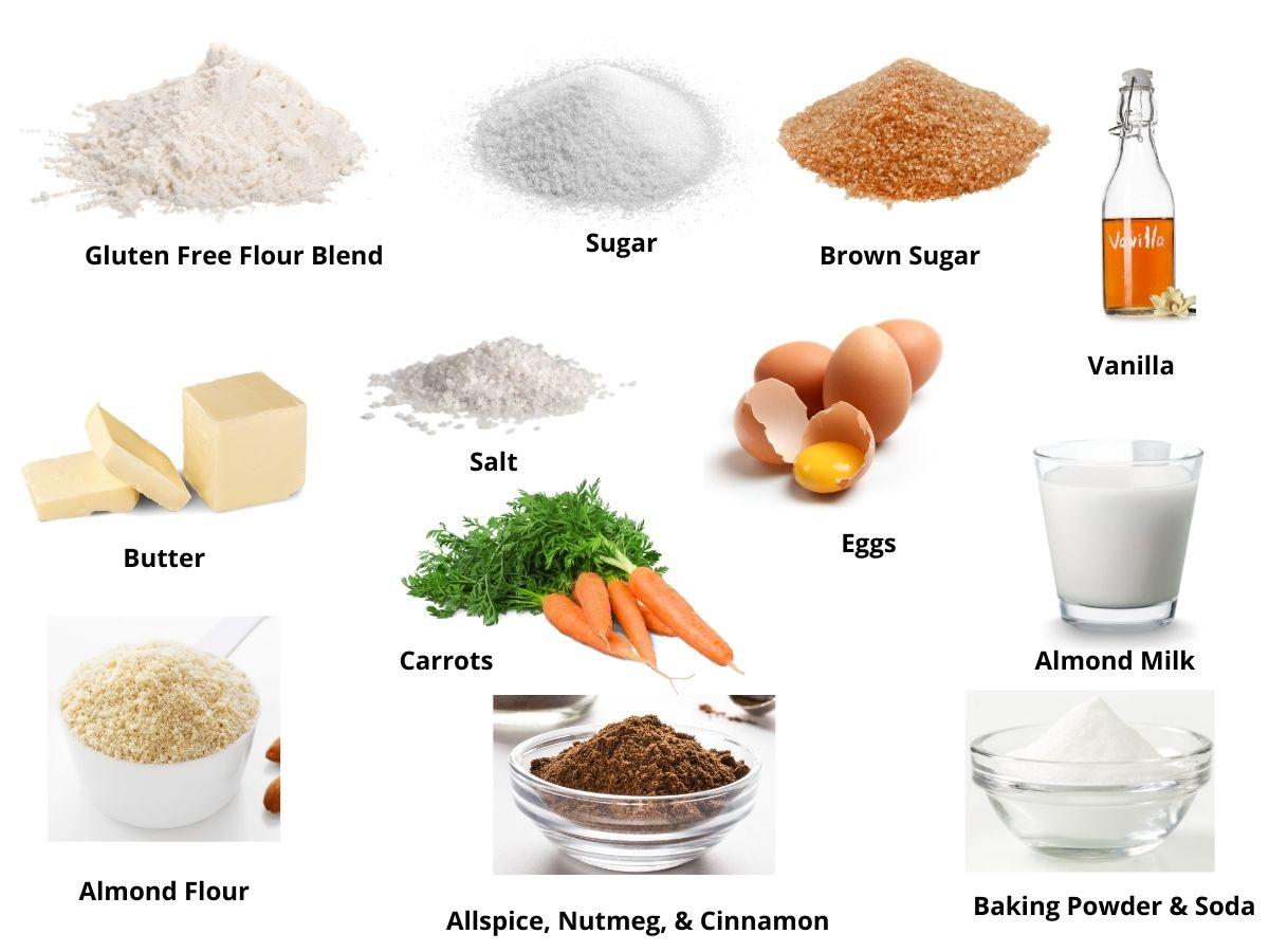 gluten free carrot cake ingredients