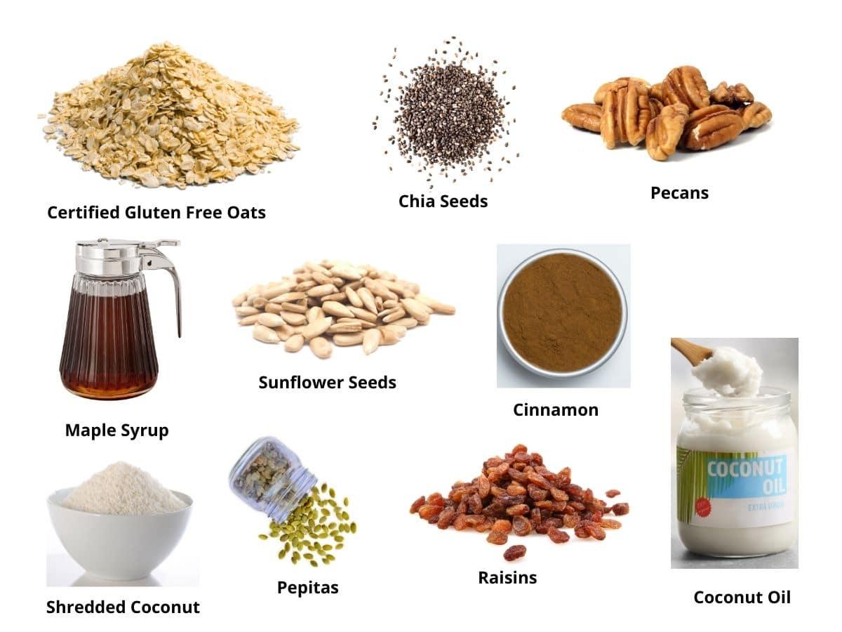 gluten free granola ingredients