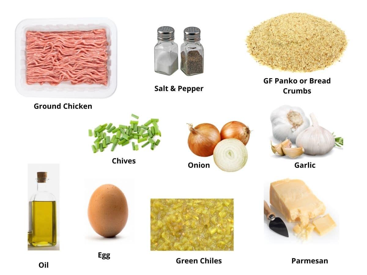 ground chicken burgers ingredients