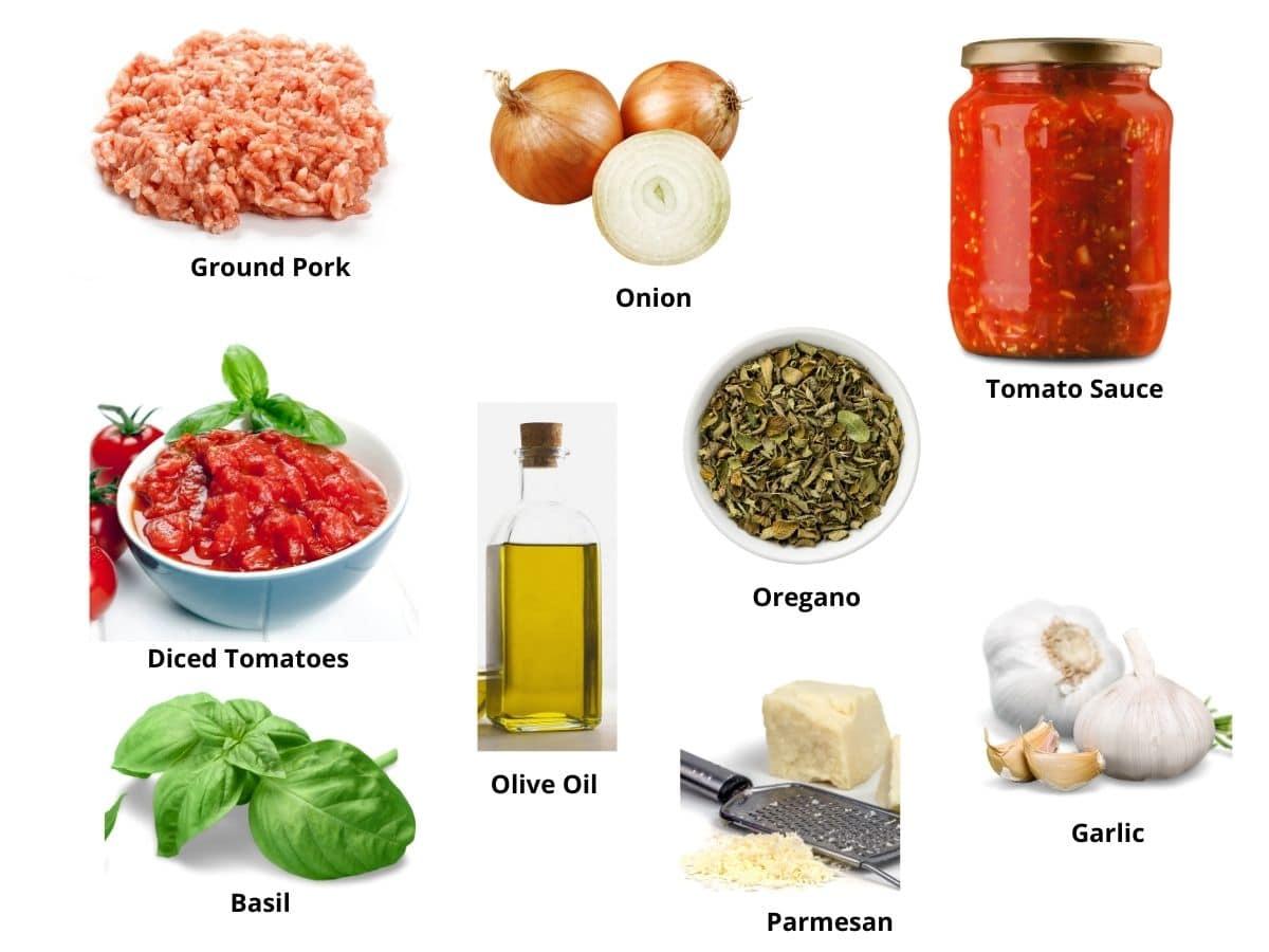 ground pork pasta sauce ingredients