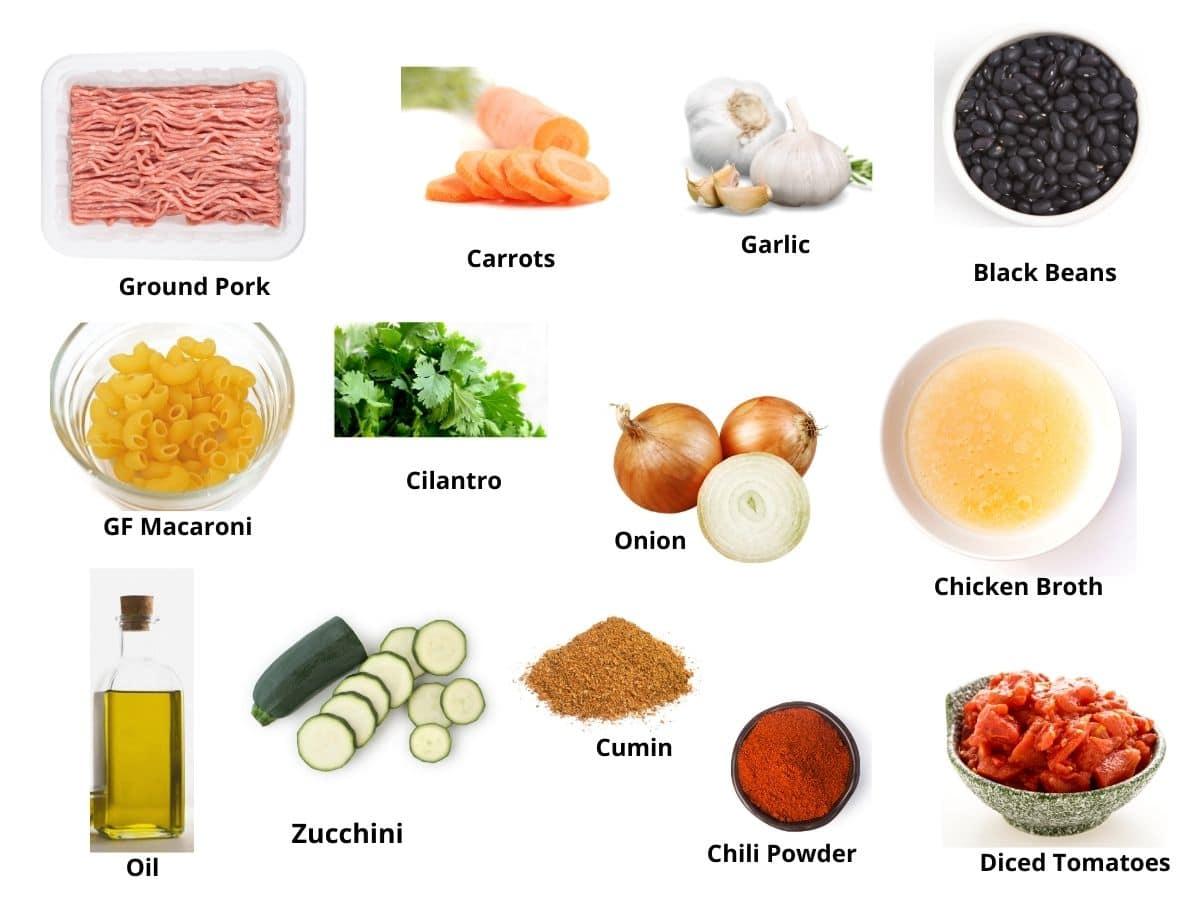 ground pork soup ingredients