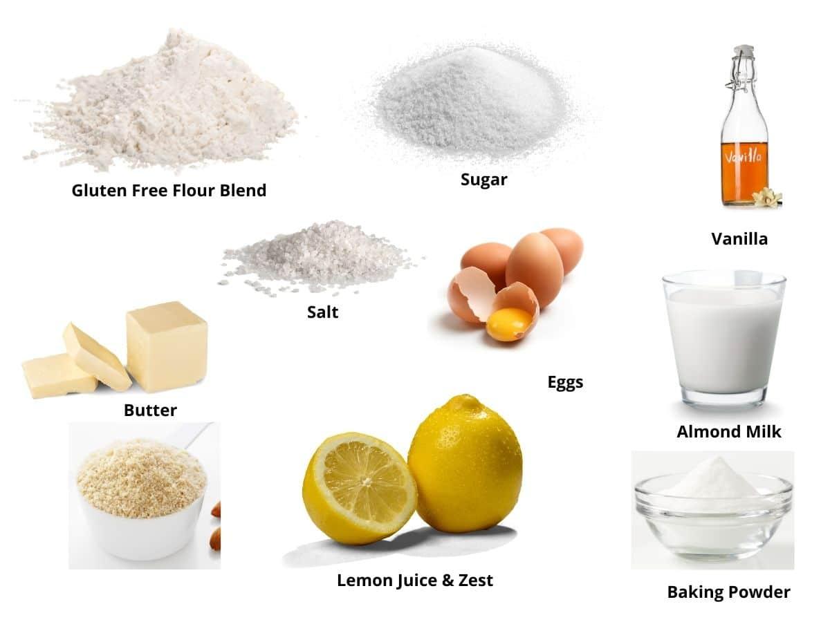 gluten free lemon bundt cake ingredients