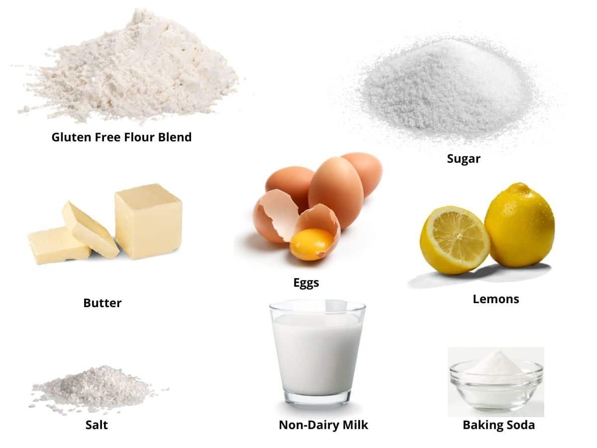 gluten free madeleines ingredients
