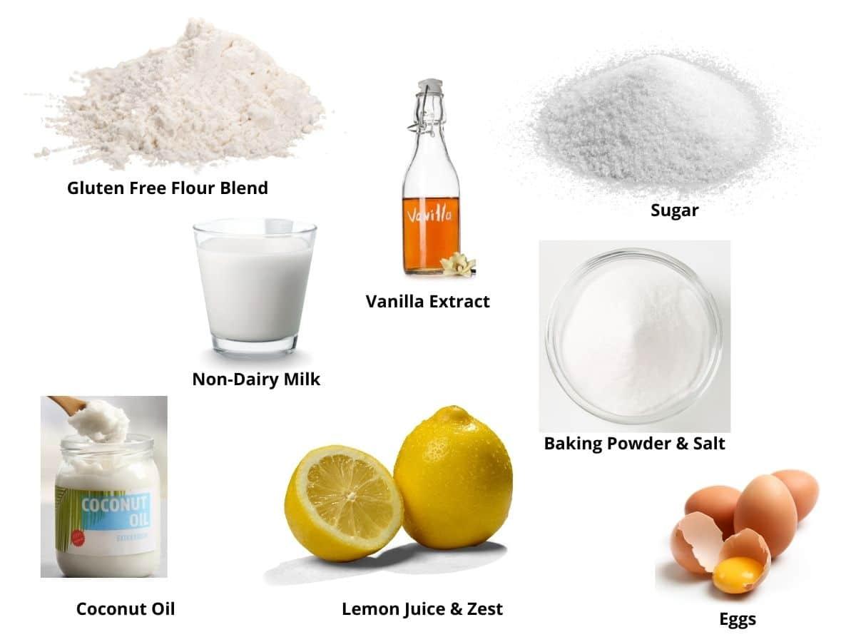 lemon mug cake ingredients