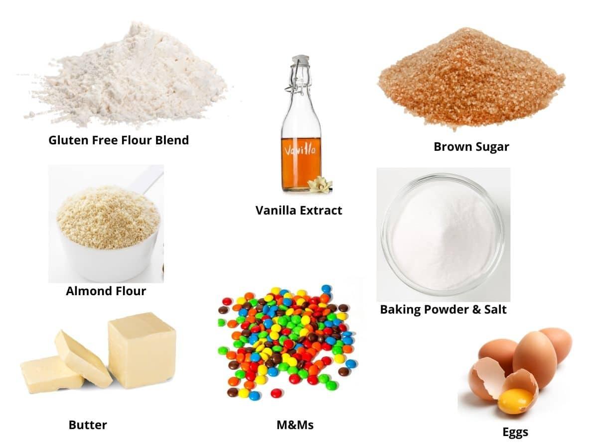 m and m cookies ingredients