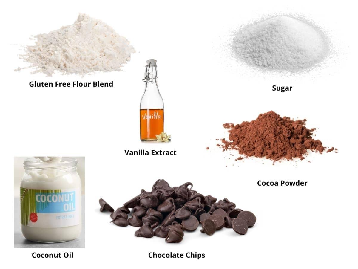 gluten free mug brownie ingredients