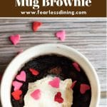 a pinterest collage pin of the mug brownie