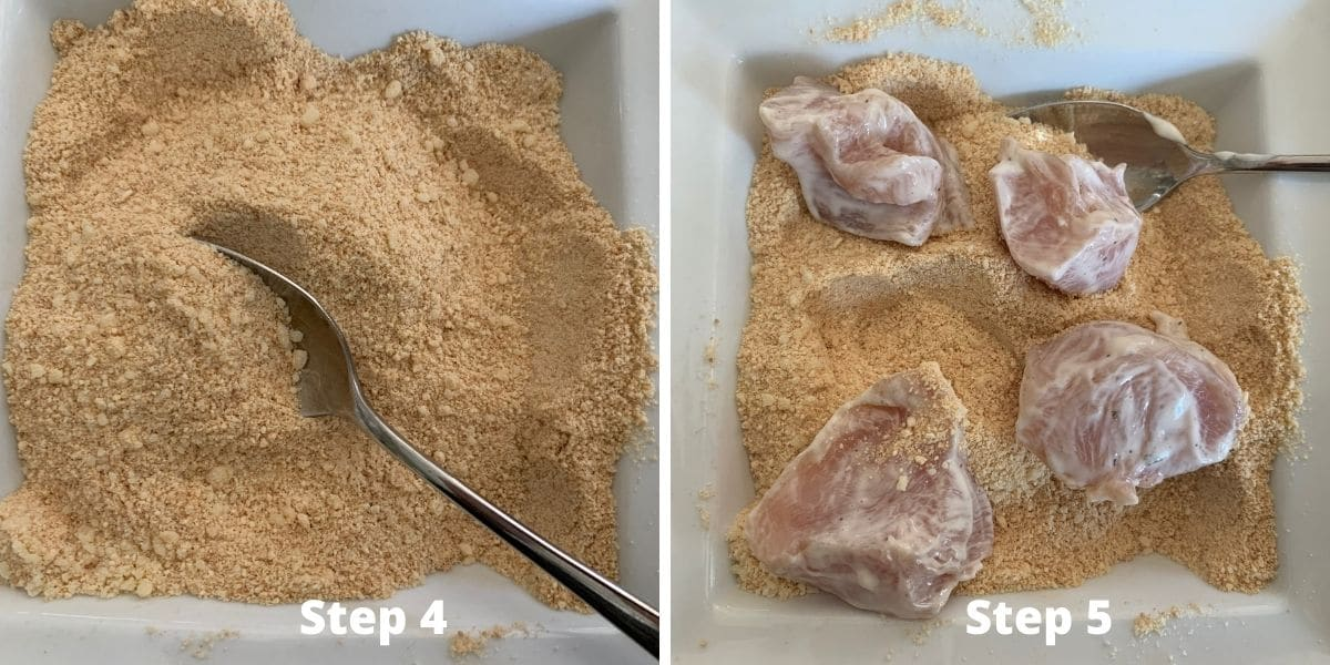 gluten free chicken nuggets steps 4 and 5 photos