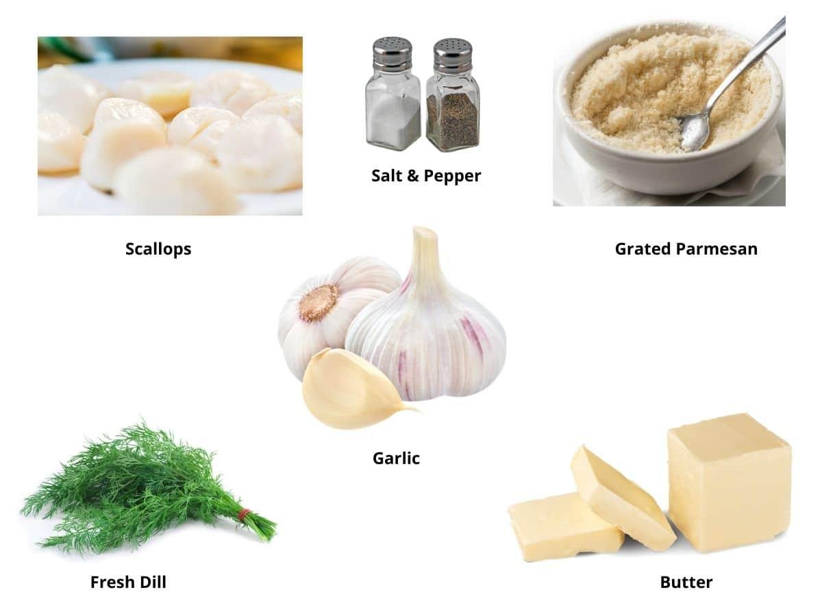 air fryer scallops ingredients