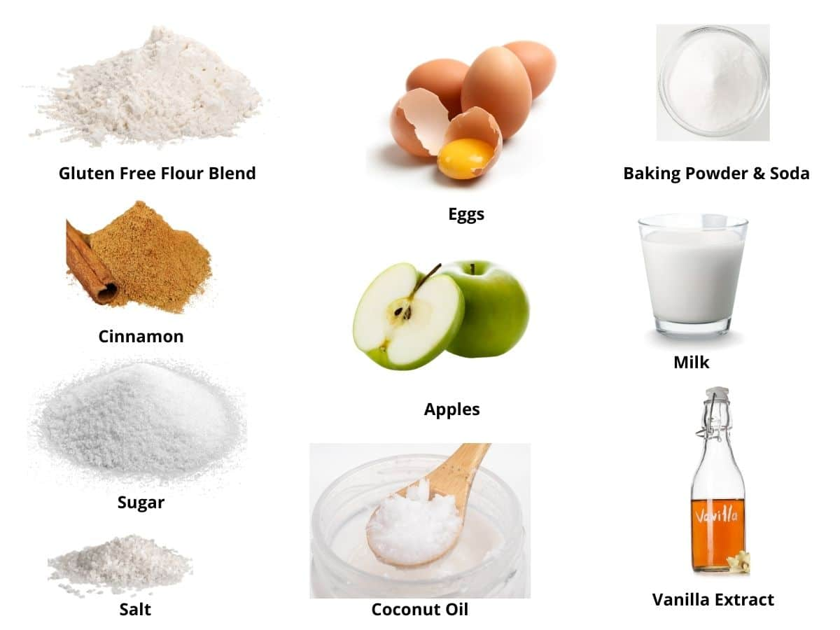 gluten free apple muffins ingredients