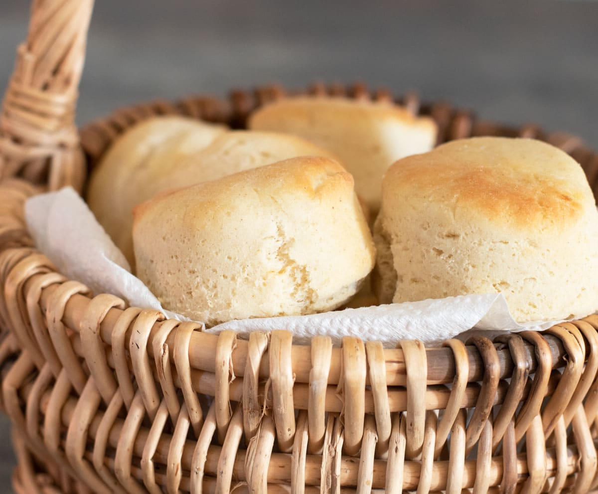 a close up of the baked gluten free rolls