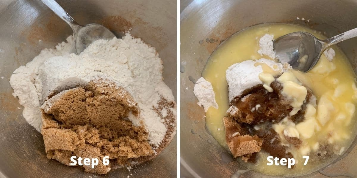 crumble topping steps 6 and 7 photos