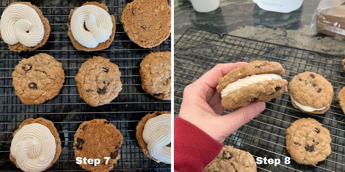 oatmeal cream pies photos of steps 7 and 8
