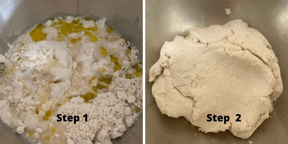 gluten free matzah steps 1 and 2