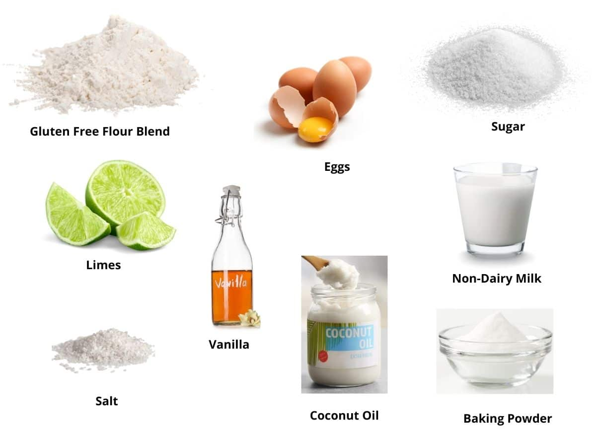 gluten free lime mug cake ingredients