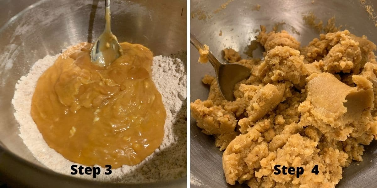peanut butter cookies steps 3 and 4 photos
