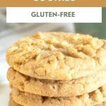 a pinterest collage pin of the peanut butter cookies