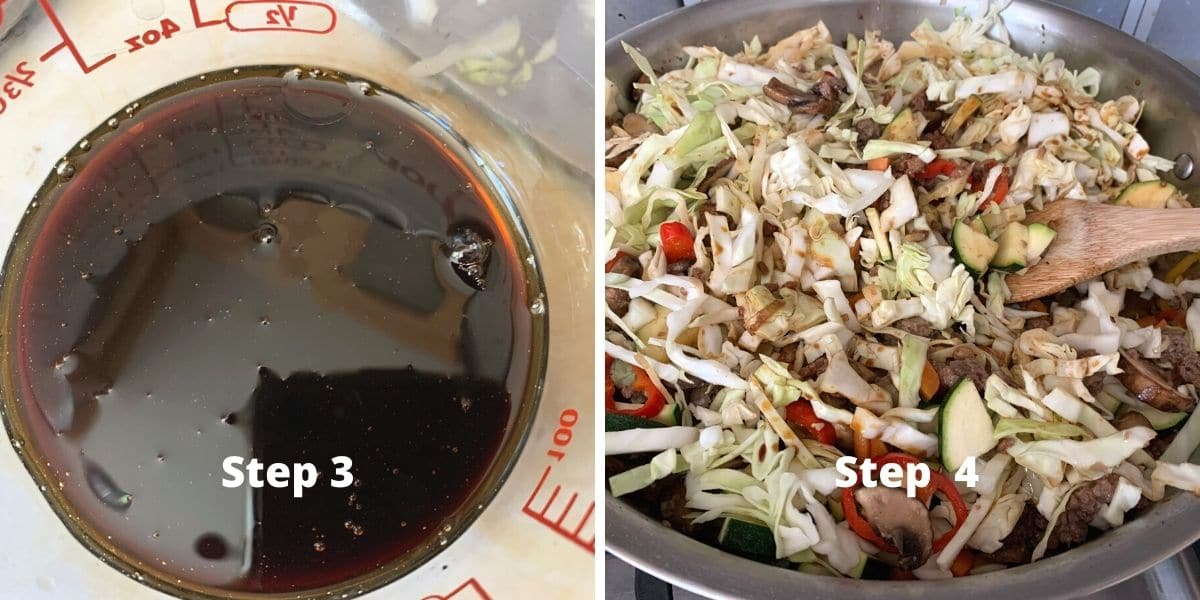 egg roll in a bowl photos of steps 3 and 4