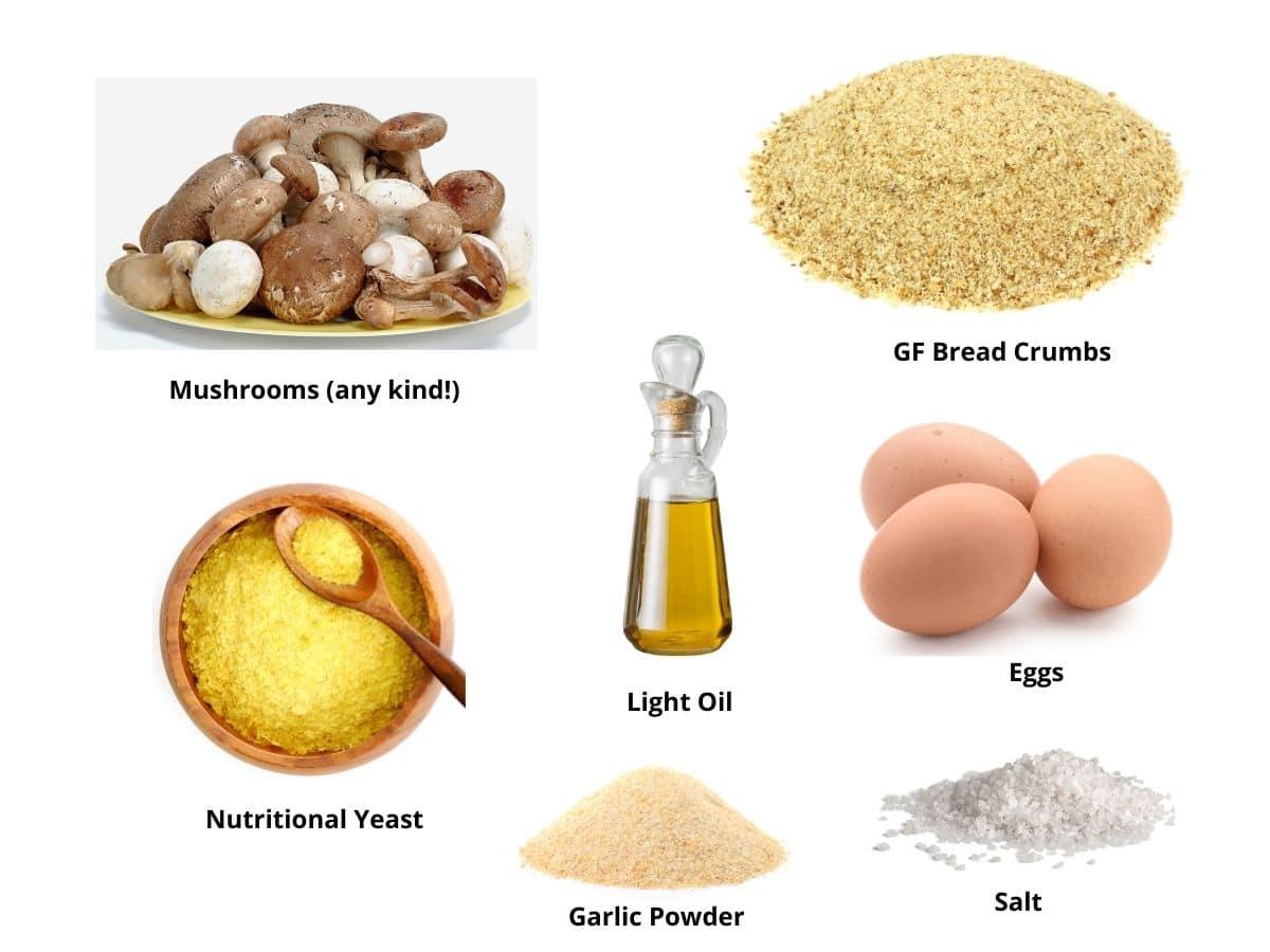 air fried mushroom ingredients