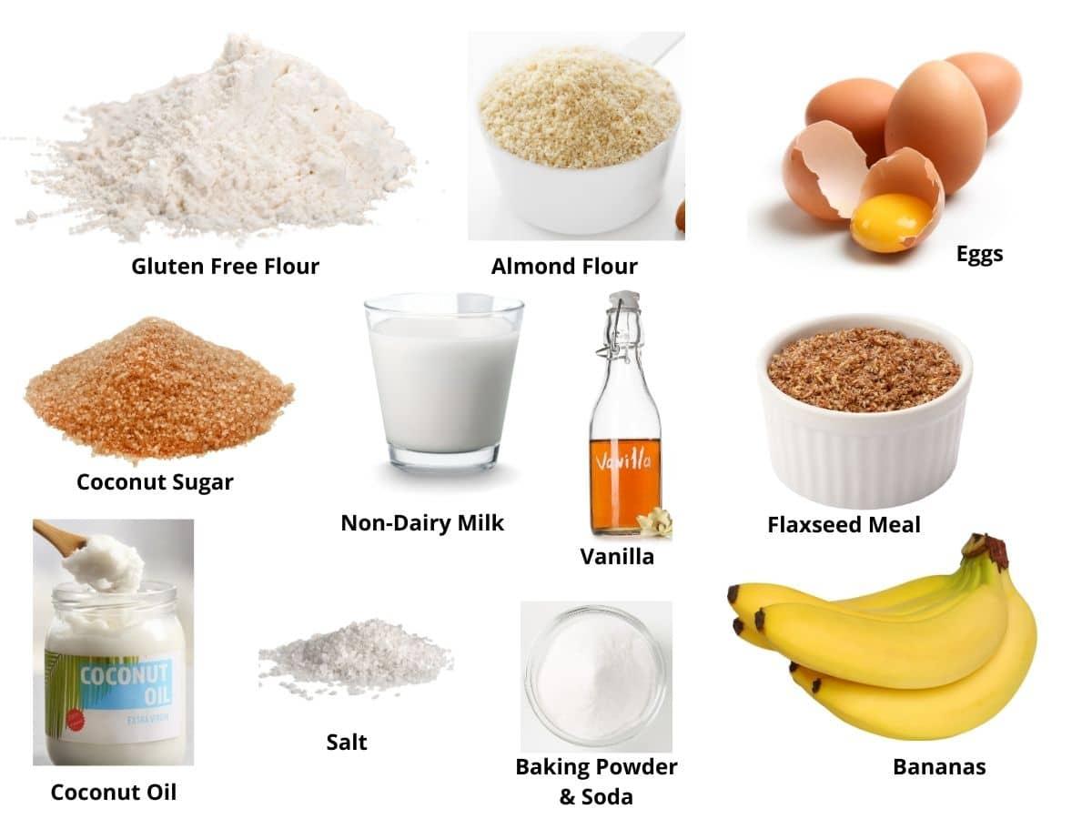gluten free banana muffins ingredients