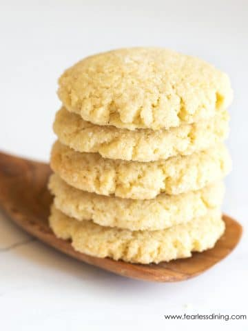 a stack of five lemon cookies