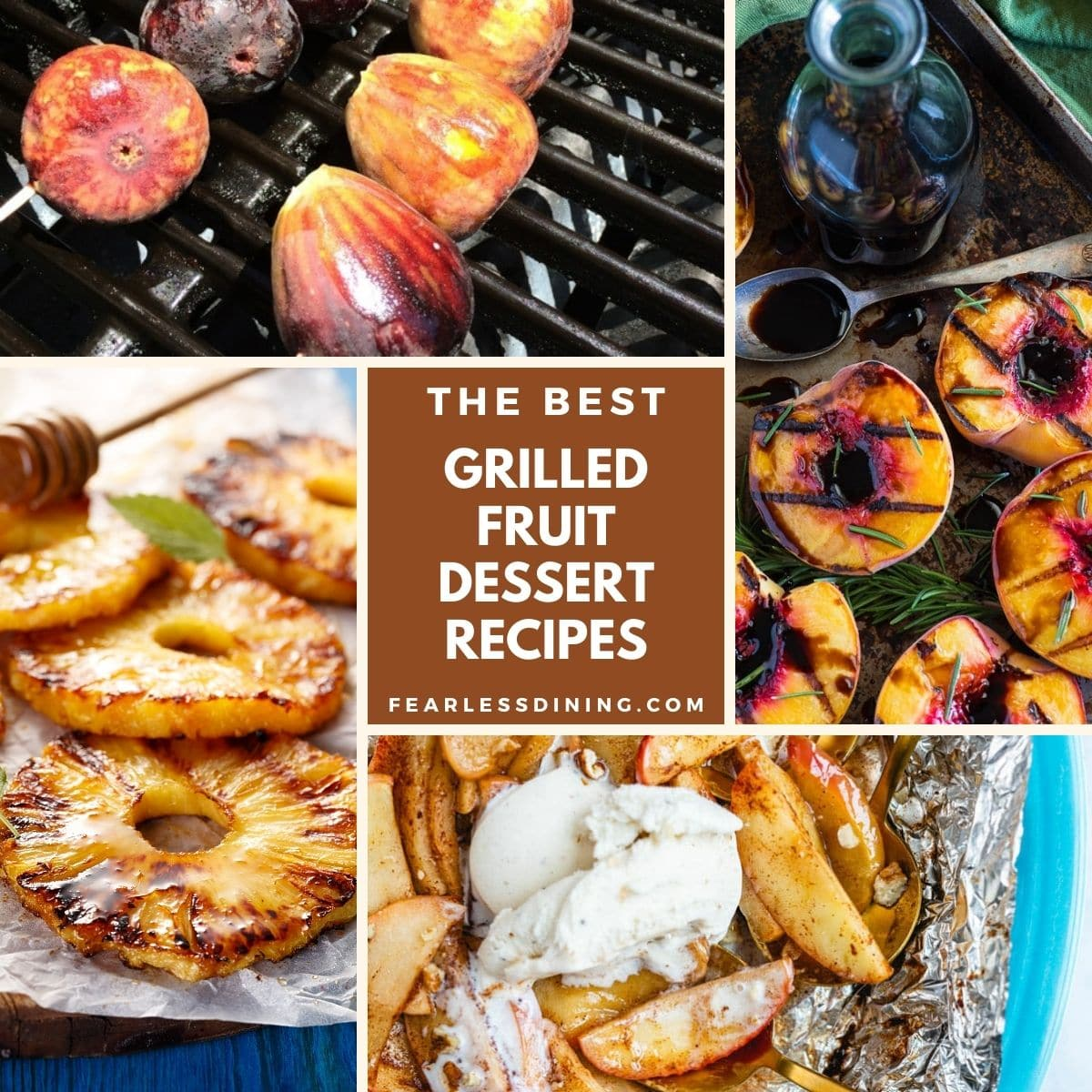 photos of grilled fruit desserts