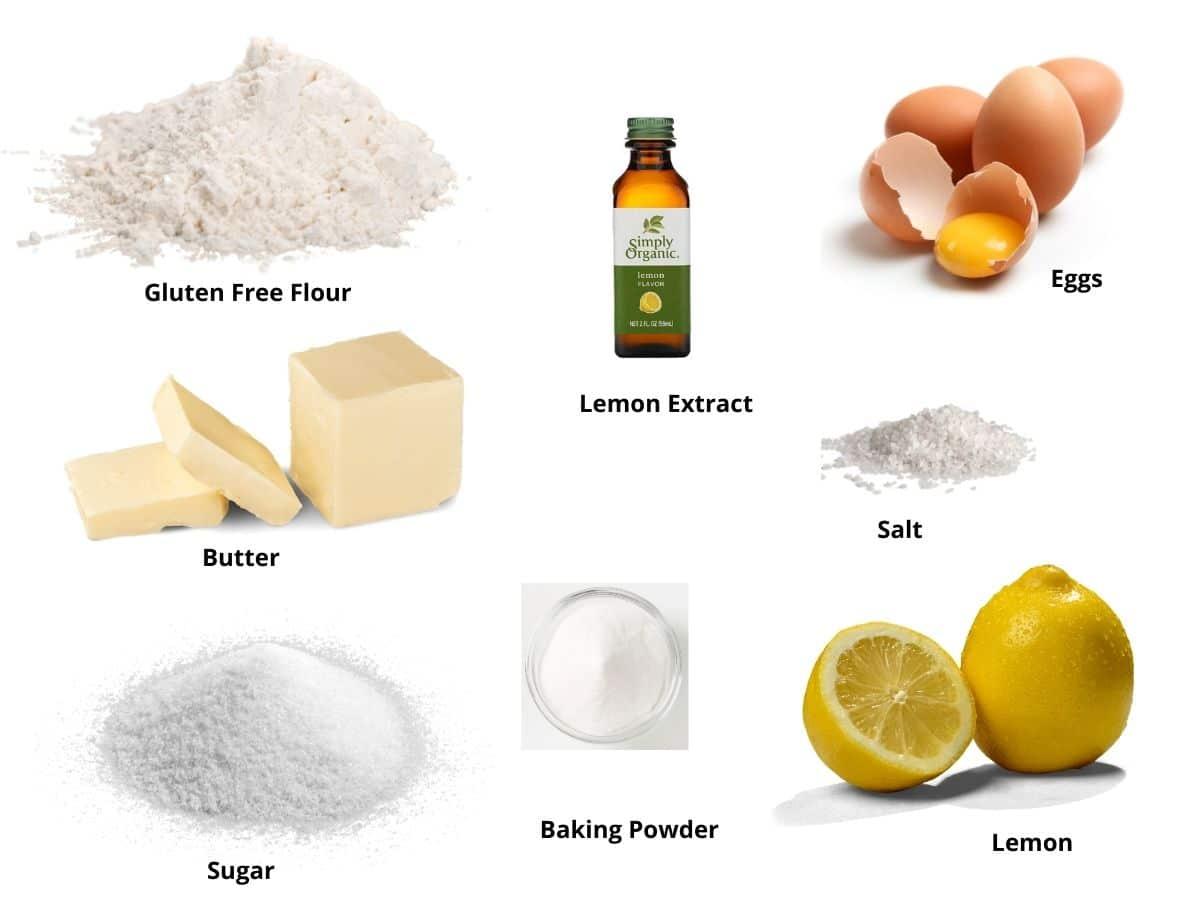 gluten free lemon cookie ingredients