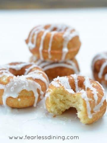 stacks of lemon donuts